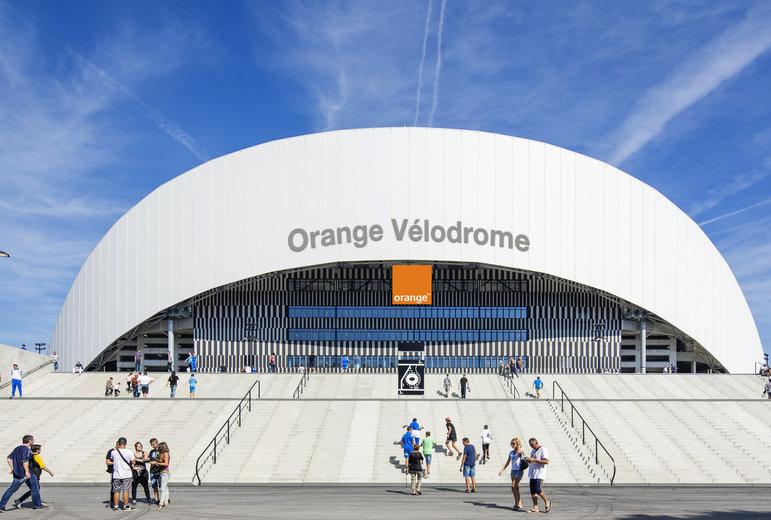 Orange Vélodrome à Marseille, stade de l'Olympique de Marseille