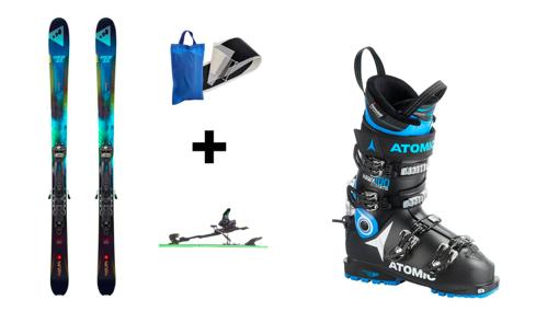 Pack Décathlon 450€ pour les skis/fixes/peaux de phoques + 349€ pour les chaussures