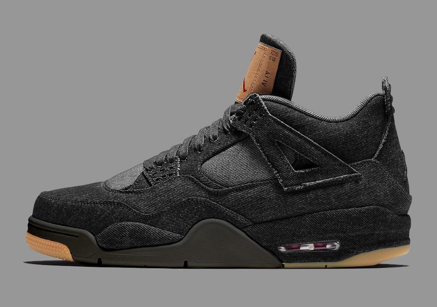 La levi's x Air Jordan IV Black