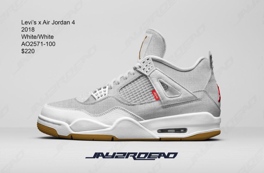 La levi's x Air Jordan IV White