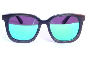 polarizované bambusové brýle žena