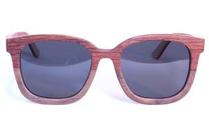 gepolariseerde bamboe bril vrouw