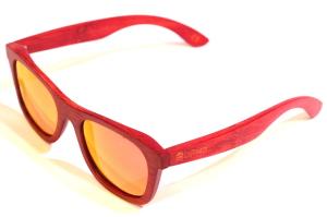 Lentes de Madera Polarizadas LePirate Rojo