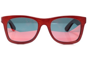 Bamboo glasses Polarized Red