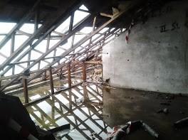 Hier wurde die Sicherung des Gebäudes vergessen.