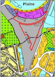 Localisation de la zone concernée (entourée en rouge) à Delta