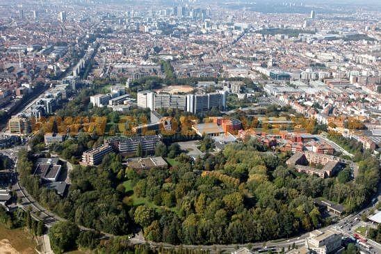 Photographie aérienne de la Plaine prise par Simon Schmitt  en septembre 2011, http://www.globalview.be/search.asp?pid=3&idp=542744&ft=campus&pos=6&back_pid=2