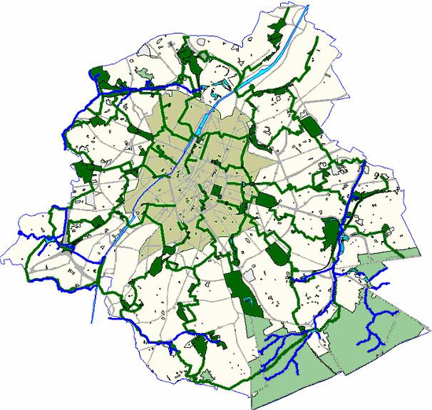 Maillage vert et bleu à Bruxelles par l'AATL, source 3