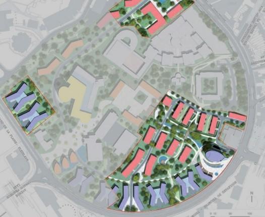 Schéma du projet Universalis Park développé par Art&Build architect, source 4