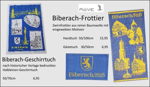Biberach-Handtuch, Biberach-Gästetuch, Schützen-Geschenk, Handtuch-BC, BC-Handtuch, Stoff-Biberach