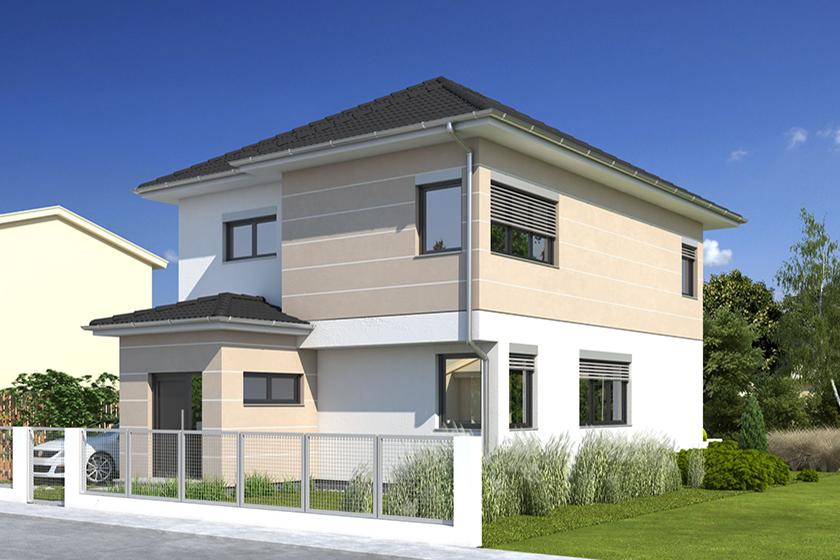 Einfamilienhaus als Neubauprojekt durch Involvierung eines Bauträgers.