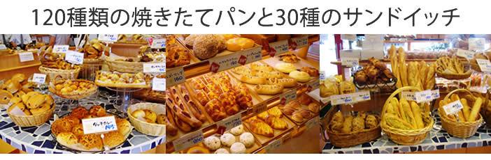 モンブランでは120種の焼き立てパンと30種のサンドをご用意しております。