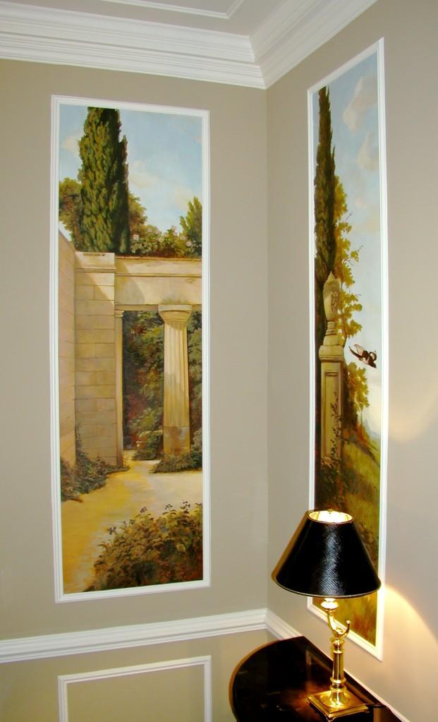 Foyer classical mural.
