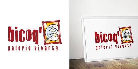 Logo Bicoq - galerie vivante