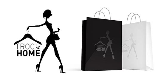 Logo Troc at Home - Dépôt vente de vêtements et accessoires à domicile - Toulouse
