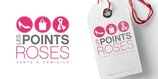 Logo Les Points Roses - Vente de vêtements, chaussures et accessoires à domicile