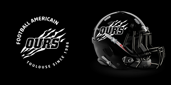 Logo Ours de Toulouse - Football Américain, Flag, Cheerleading