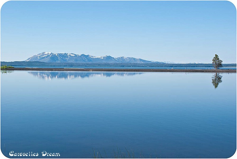 Yellowstone Lake – spiegelglatt