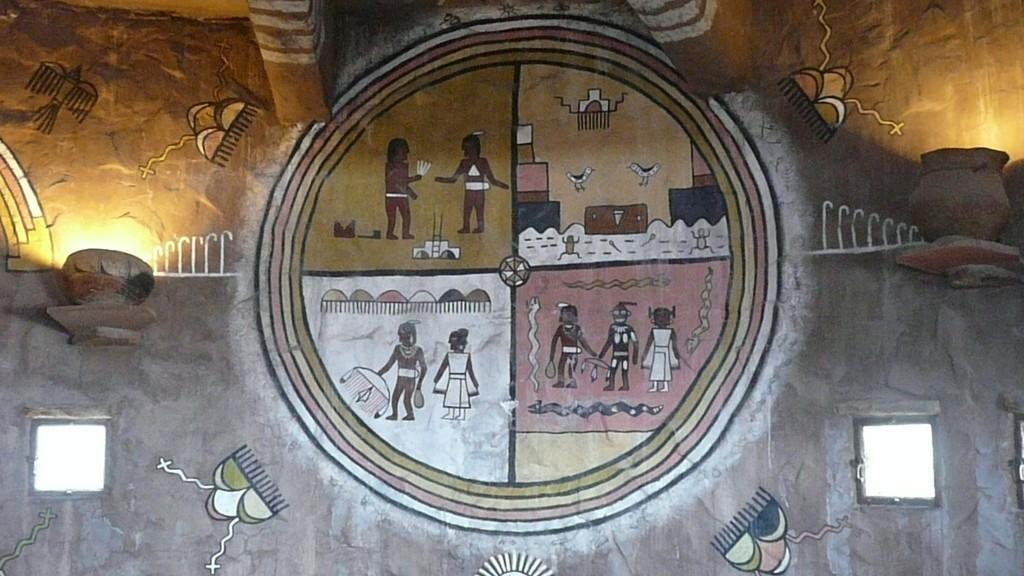 Wandmalerei im Watchtower