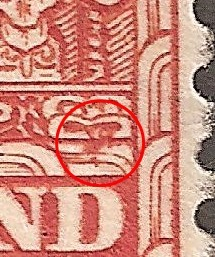 R 2/3 Mark on carving which verifies Teko teko flaw