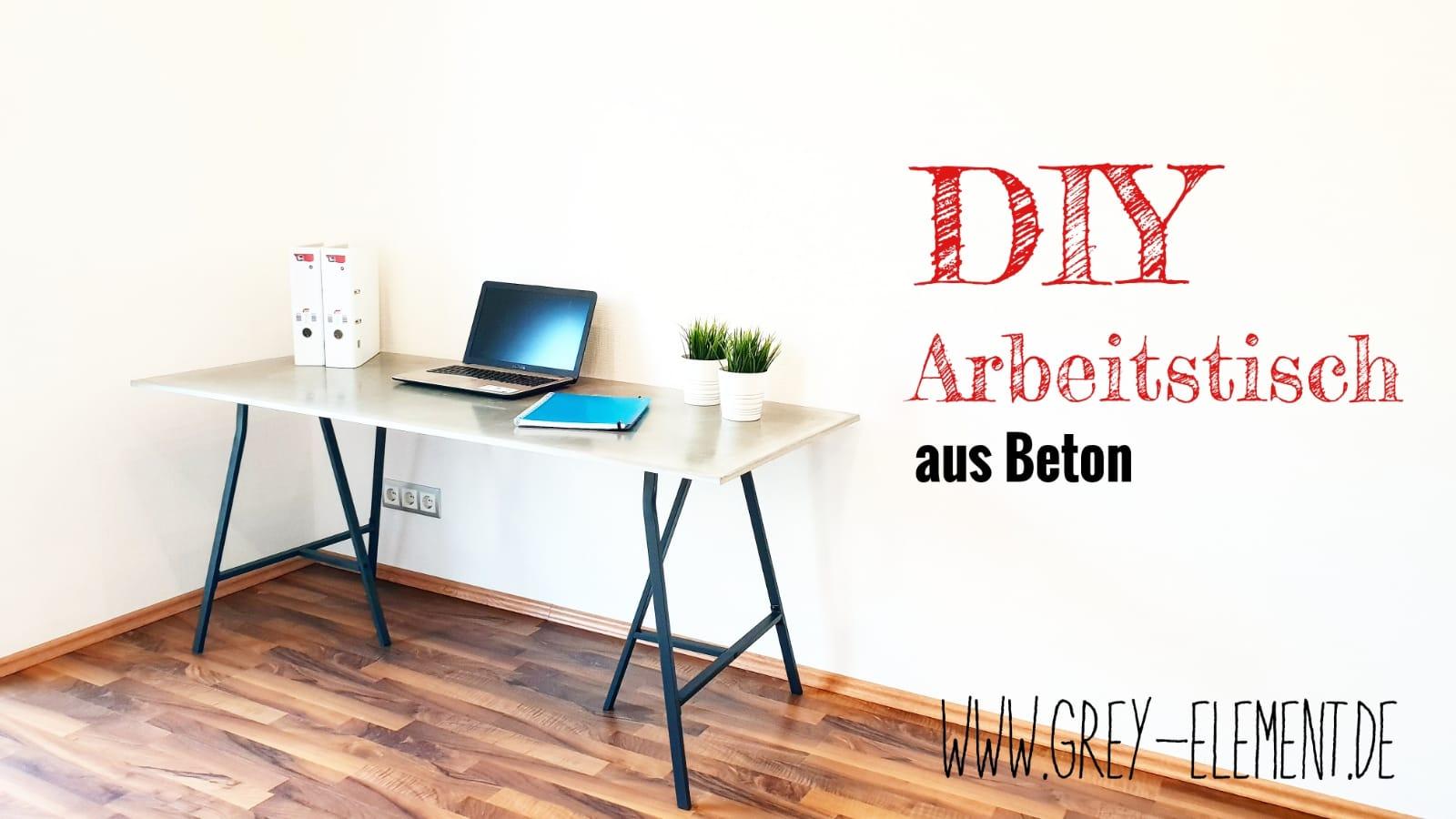 Turbo Tisch aus Beton selber machen - DIY Betonmöbel - Betonmöbel OM96