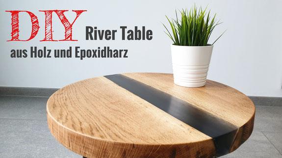 Einen Rivertable aus Epoxidharz und Holz selber bauen