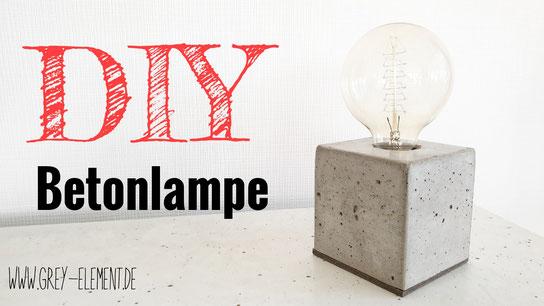 Eine DIY Betonlampe selber bauen