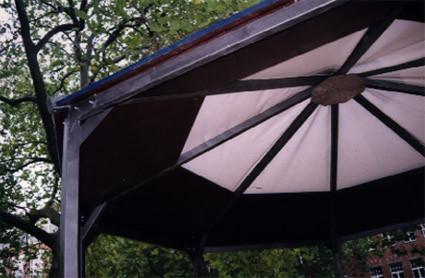 Pavillon Zeltdach innen