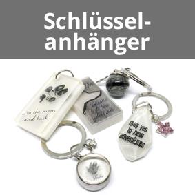 Schlüsselanhänger, Andenkenschmuck, Schlüsselanhänger aus Asche
