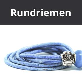 Pfeifenbänder aus edlen Rundriemen, Lederband, Pfeifenband, Hundepfeifenband