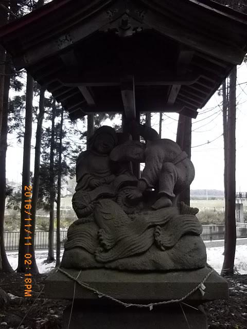 三和日吉神社。福の神