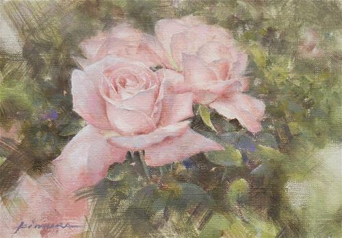 薔薇の絵 油彩画