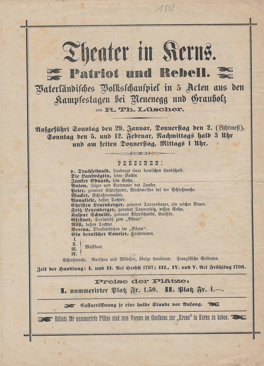 1888 Vorderseite