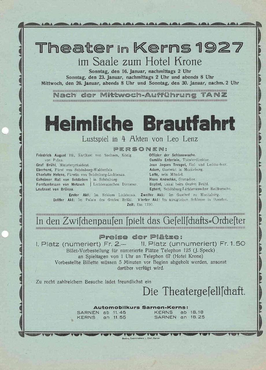 1927 Vorderseite