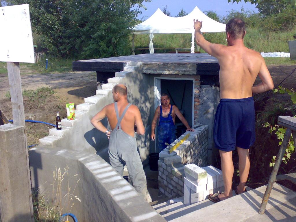 Vorbereitung des Pumpenhauses für Brauchwasser