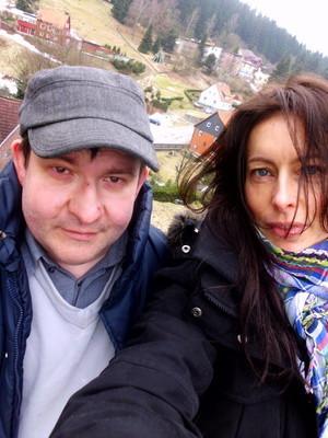 ich mit Tina zum ersten Mal im Harz 2009