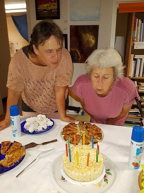 Geburtstagskerzen ausblasen ....