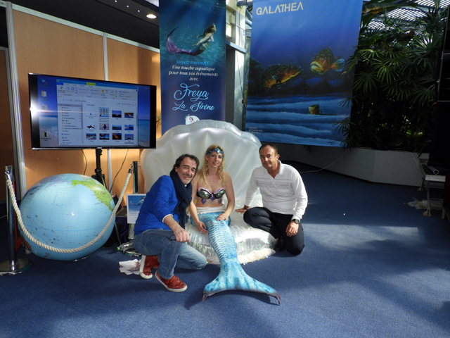 Avec Fred Courant et la sirène Freyat (Lauriane)