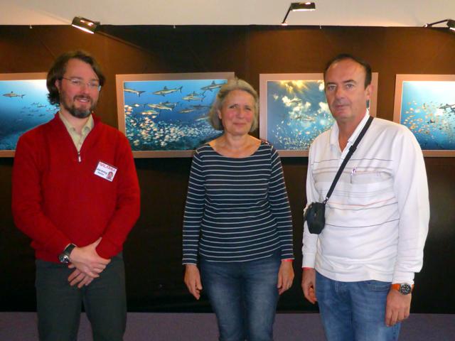 Avec Jérémy Delille, Juliette Dumas (une des filles de Frédéric Dumas, célèbre Mousquemer avec Cousteau et Tailliez)