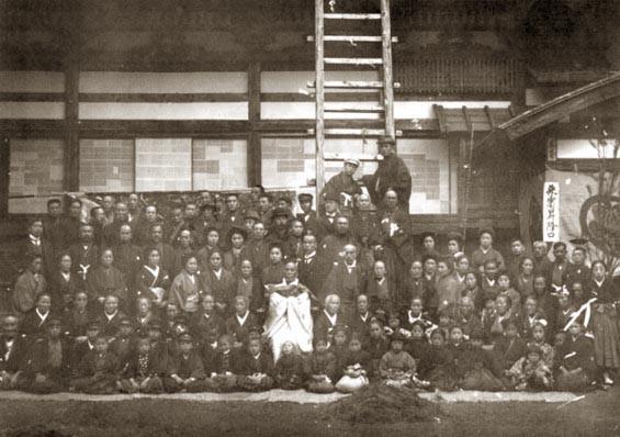 50周年で円通寺に集まった斗南の人々 星玄二氏 蔵
