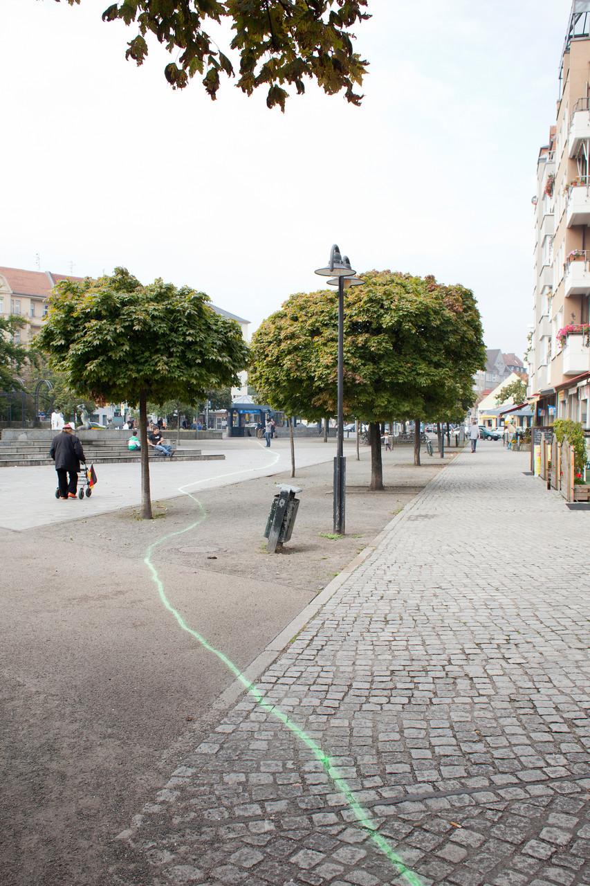 """Kunstaktion """"Heimweg – Zeig mir deinen Kiez"""" von Nikolaus Schrot"""