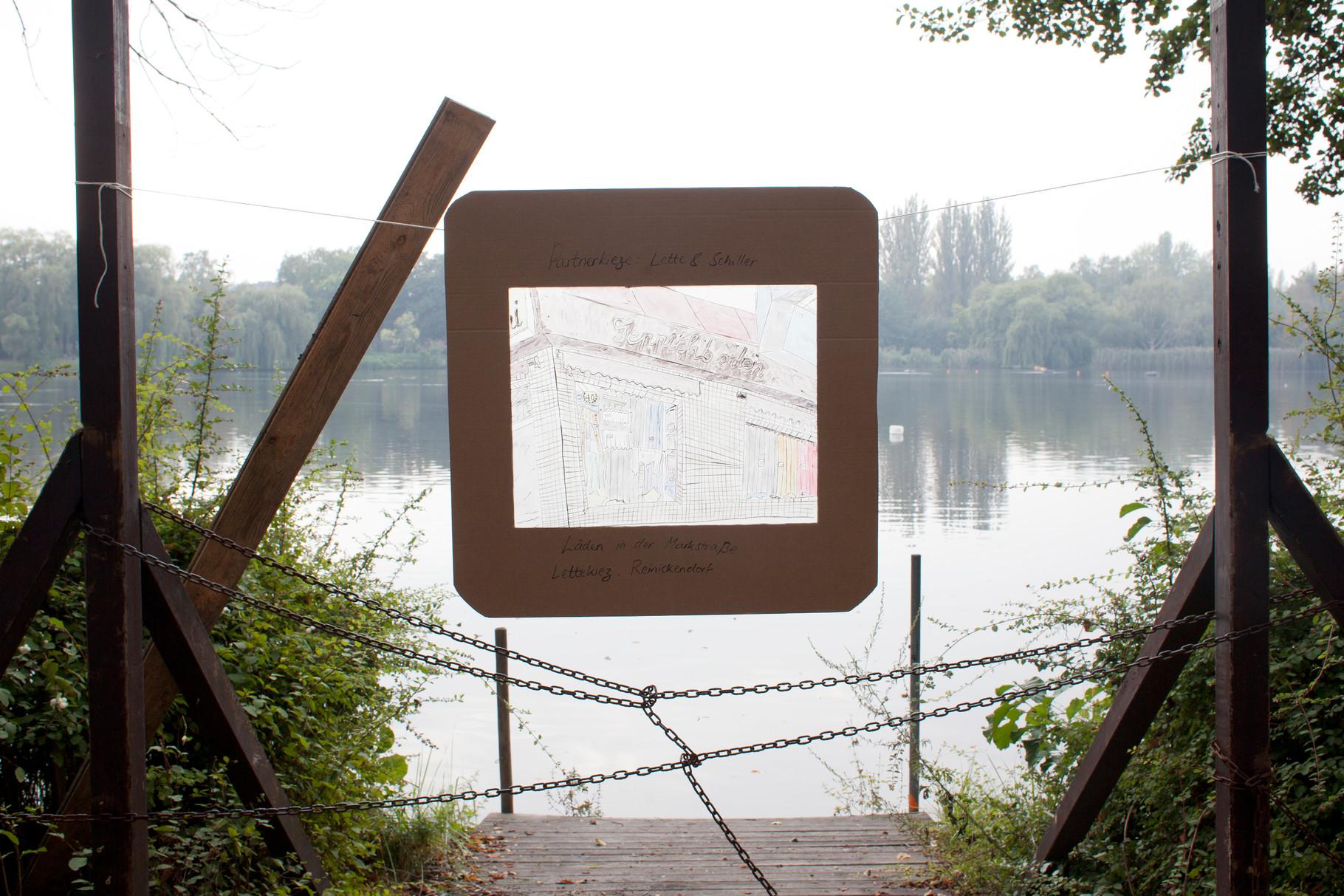 """Open-Air-Ausstellung """"Partnerkieze: Lette & Schiller"""" von Zara Verity Morris"""