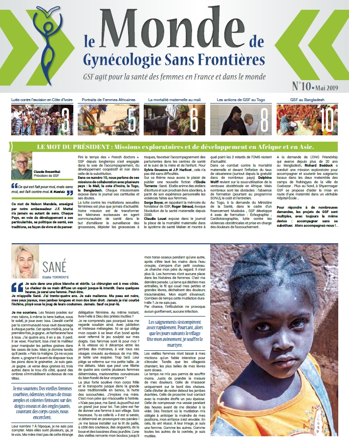 Le Monde de Gynécologie Sans Frontières mai 2019