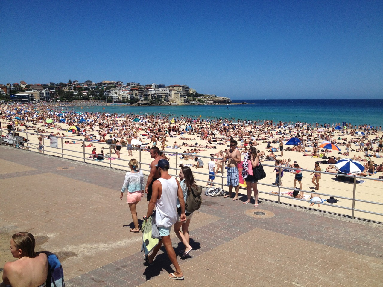 A lot of people on the beach .... — at Bondi Beach.