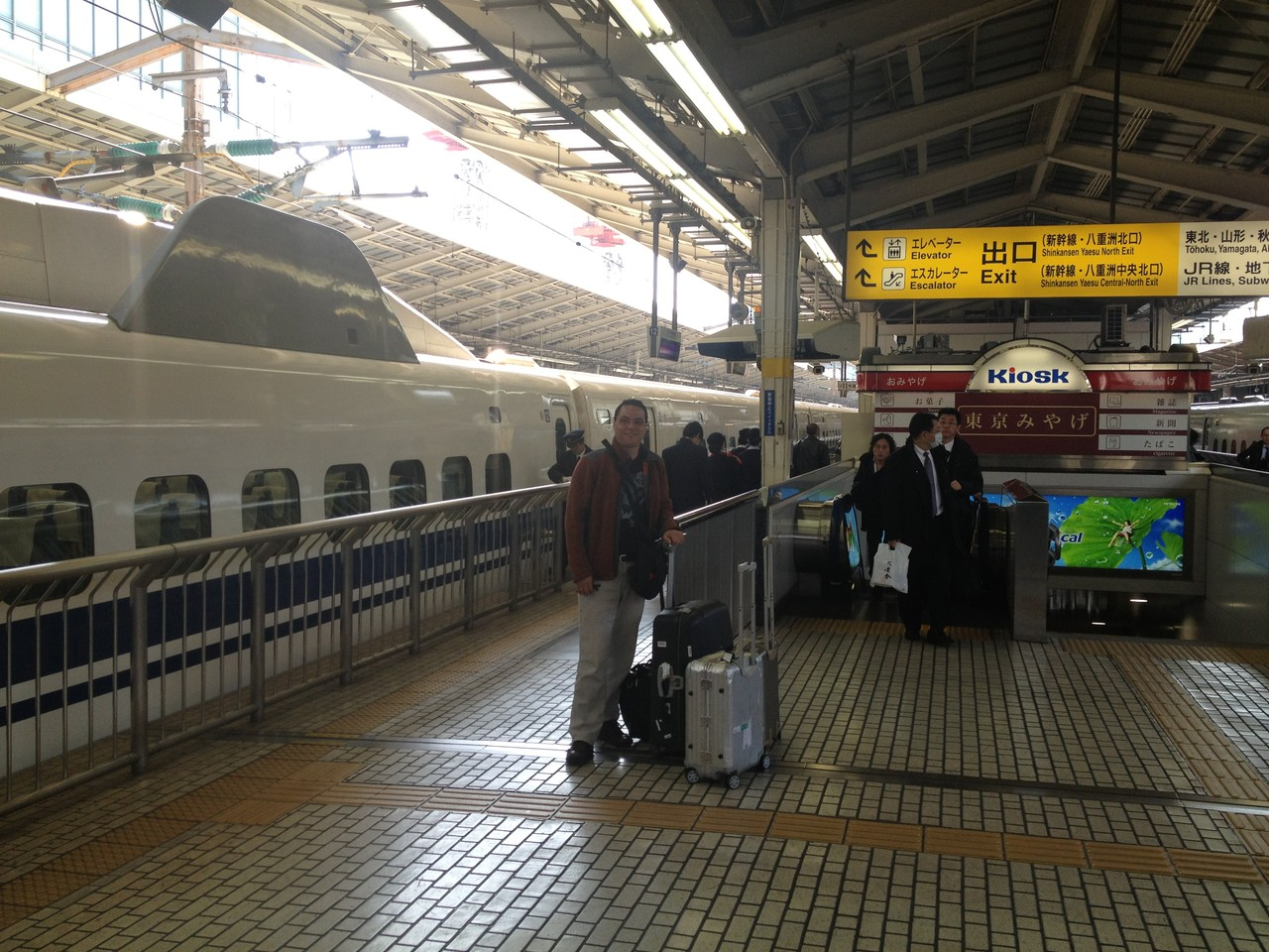 This is the bullet train that will take us to Osaka — at Tokyo Japan.