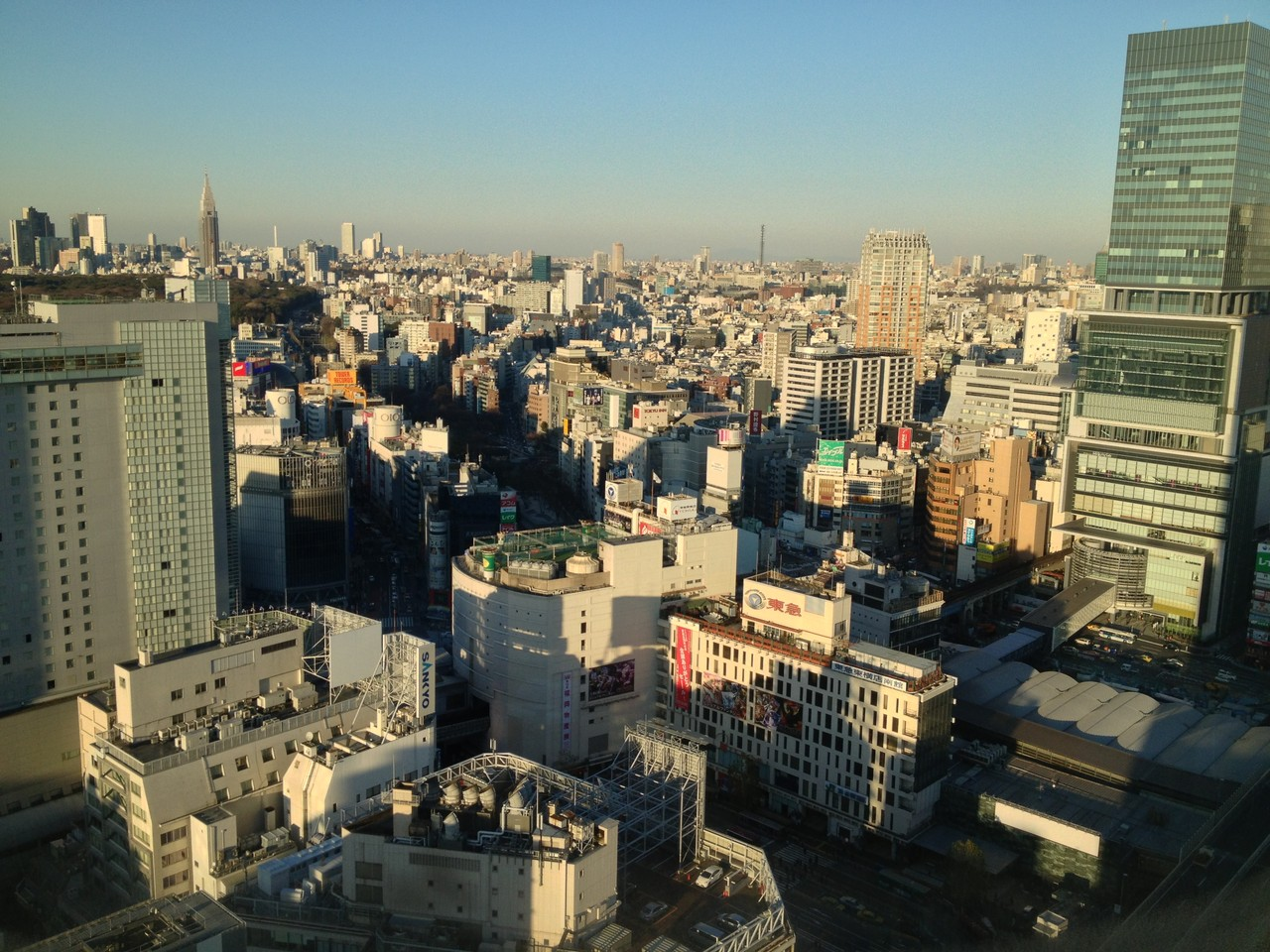 Great view from the hotel room, 22nd floor! — at Shibuya-Tokyo.
