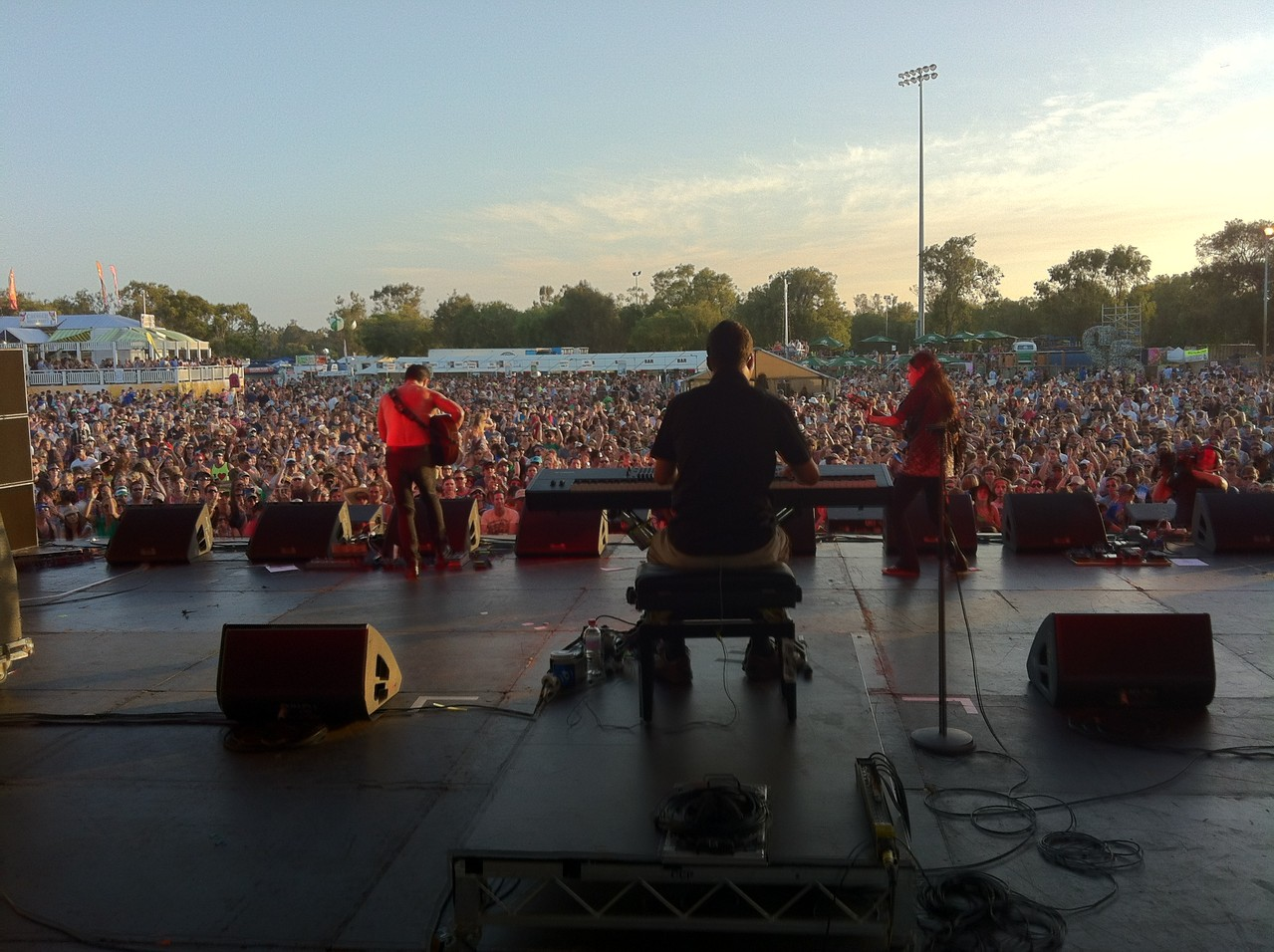 Us on stage as the sun sets.... — with Alex Wilson at Southbound Festival 2013.