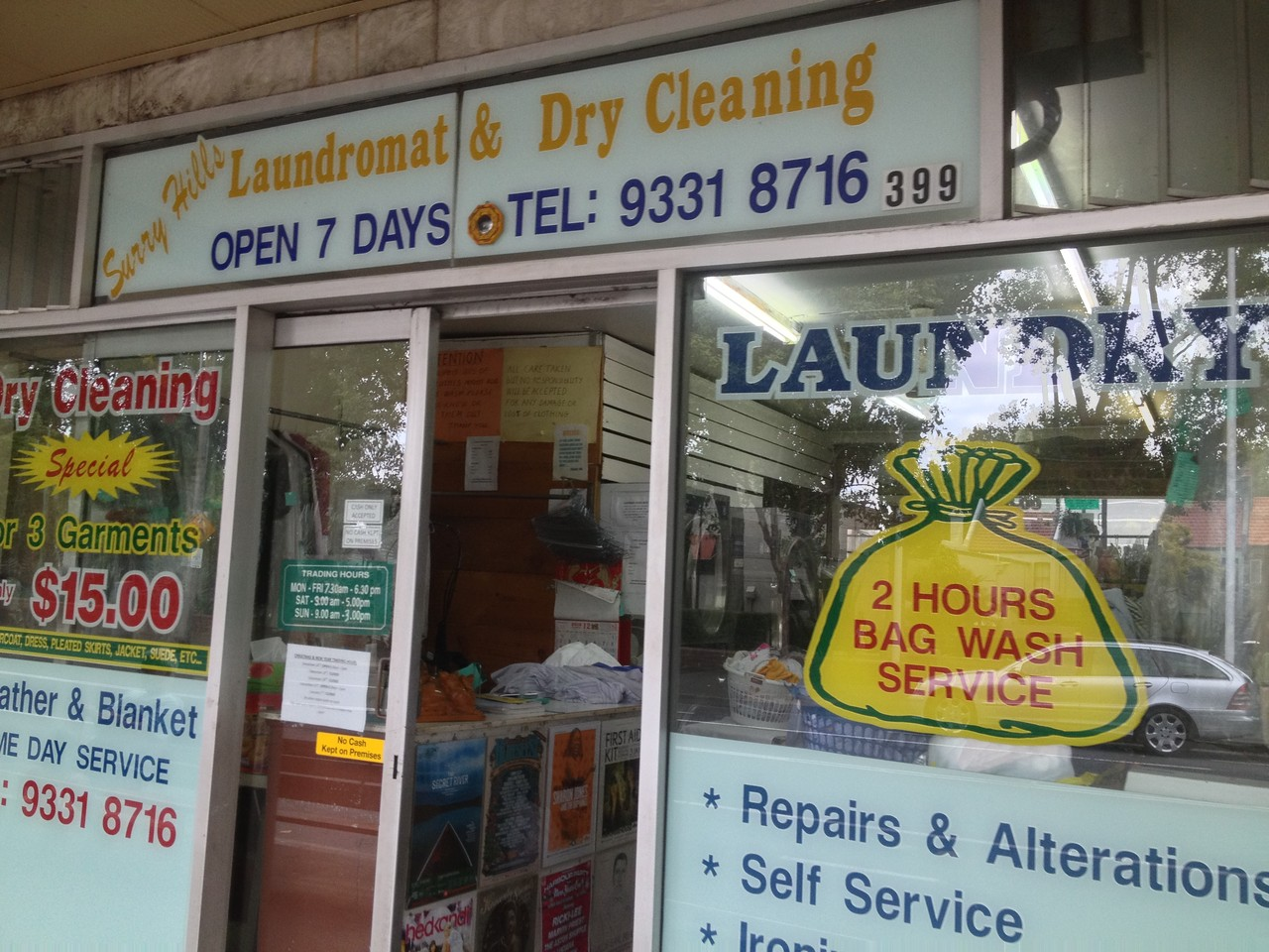 Went to do dry cleaning to clear my mind .... — at Sydney.