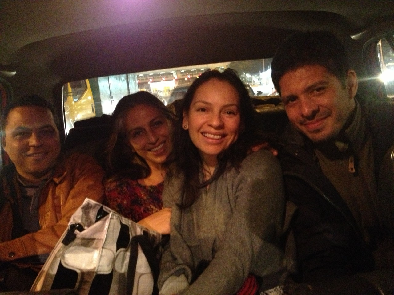 The four of us squash into a taxi and we drive to the nearest vegan restaurant ... — in Hong Kong, Hong Kong.
