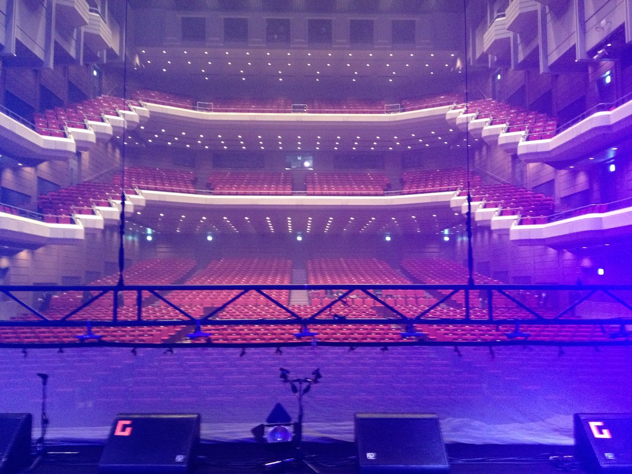 Second show at the Orchard Hall and we sound check again .. — at Orchard Hall Shibuya.